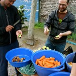 Pablo and Josh help with Liga Healthy Snacks October 2012