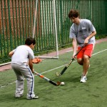 VE Global Volunteer Plays Hockey