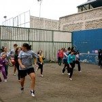 Warming Up at VE Global Liga de Deportes October 2012