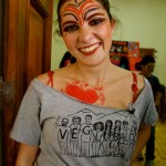 VE Volunteer in Costume for Festival de Arte
