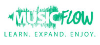 Music Flow Logo Green Transparent