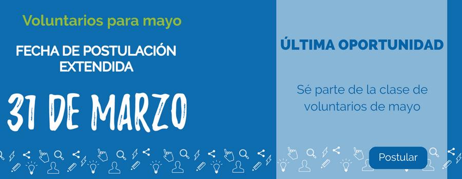 Voluntarios para mayo
